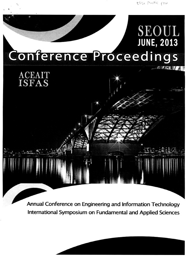 Cover of ACEAIT-ISFAS : Annual Conference on Engineering and Information Technology Intenational Symposium on Fundamental and Applied Science